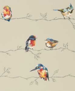 Persico Wallpaper from the Standing Ovation Collection by Harlequin in Coral & Lemon