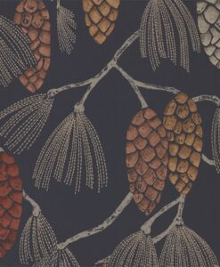 Epitome Wallpaper from the Standing Ovation Collection by Harlequin Wallpaper in Copper, Gold & Sepia