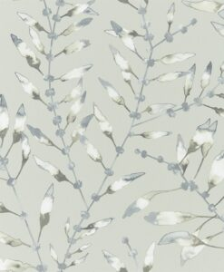 Chaconia Wallpaper from the Anthozoa Collection in Graphite & Mustard