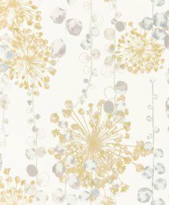 Moku Wallpaper from the Anthozoa Collection in Ochre & Seaspray