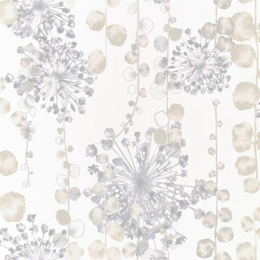 Moku Wallpaper from the Anthozoa Collection in Mineral & Pebble