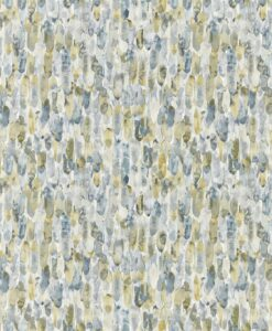 Kelambu Wallpaper from the Anthozoa Collection in Graphite & Mustard