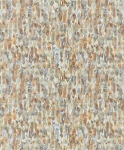 Kelambu Wallpaper from the Anthozoa Collection in Amber & Slate