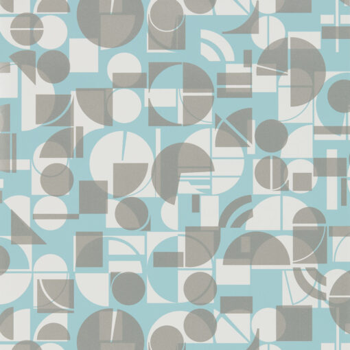 Segments wallpaper from the Entity Collection in Teal & Chalk