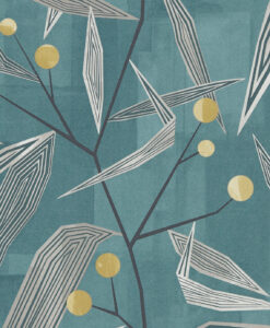 Entity Wallpaper from the Entity Collection in Teal & Linden