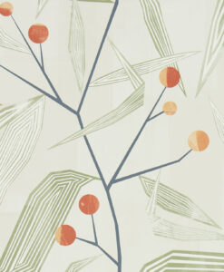 Entity Wallpaper from the Entity Collection in Brick & Ochre