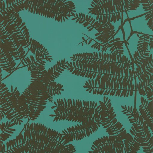 Extravagence wallpaper from the Lucero Collection by Harlequin in Emerald