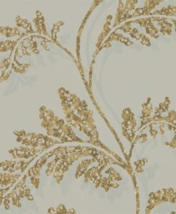 Lucero Wallpaper from the Lucero Collection by Harlequin in Oyster and Rich Gold