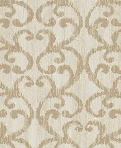 Baroc Wallpaper from the Lucero Collection by Harlequin in Champagne
