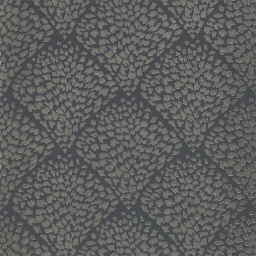 Charm wallpaper from the Lucero Collection by Harlequin in Platinum and Shadow