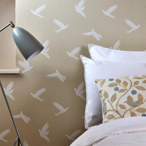 Paper Doves Wallpaper from The Potting Room Collection by Harlequin