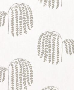 Bay Willow Wallpaper from Waterperry Wallpapers in Silver