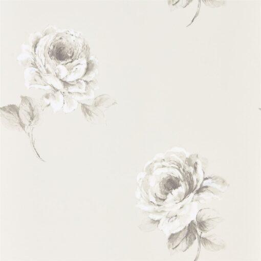 Rosa Wallpaper from Waterperry Wallpaper in Chalk
