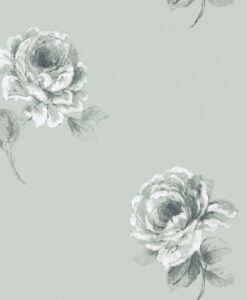 Rosa Wallpaper from Waterperry Wallpaper in Mint