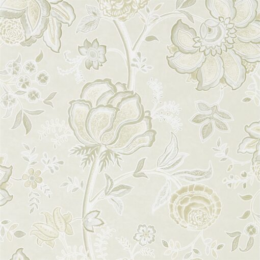 Shalimar Wallpaper from The Art of the Garden Collection in Ivory & Stone