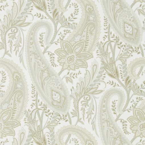 Cashmere Paisley Wallpaper from the Art of the Garden Collection in Mineral & Taupe