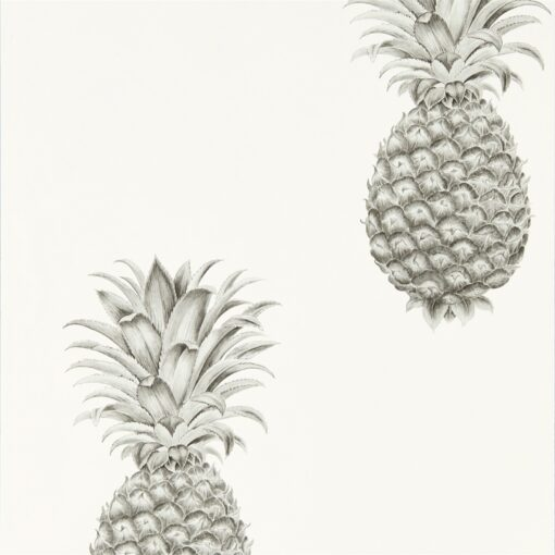 Pineapple Royale Wallpaper from The Art of the Garden Collection in Silver & Ivory