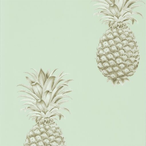 Pineapple Royale Wallpaper from The Art of the Garden Collection in Porcelain & Sepia
