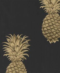 Pineapple Royale Wallpaper from The Art of the Garden Collection in Graphite & Gold