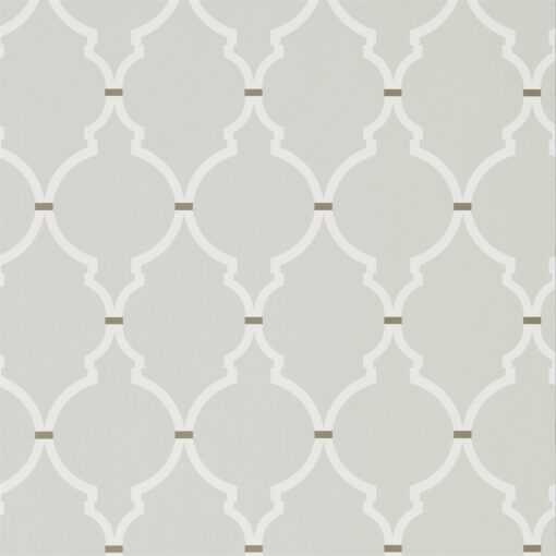 Empire Trellis Wallpaper from the Art of the Garden Collection in Silver & Calico