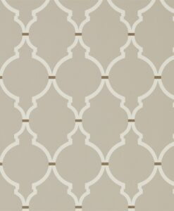 Empire Trellis Wallpaper from the Art of the Garden Collection in Birch & Cream