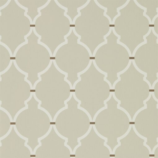 Empire Trellis Wallpaper from the Art of the Garden Collection in Linen and Cream