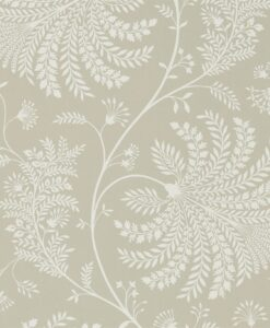 Mapperton Wallpaper from The Art of the Garden Collection in Linen & Cream