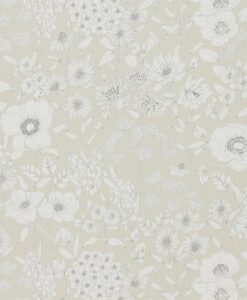 Maelee Wallpaper from The Potting Room Collection in Linen