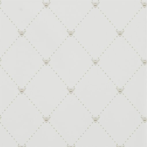 Nectar Wallpaper from The Potting Room Collection in Linen & Honey in Celadon & Flint