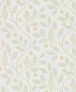 Damson Tree Wallpaper from The Potting Room Collection in Linen & Honey