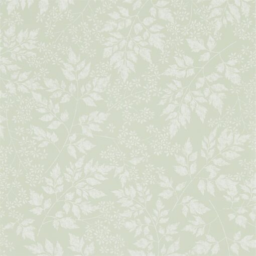 Spring Leaves Wallpaper from The Potting Room Collection in Celadon