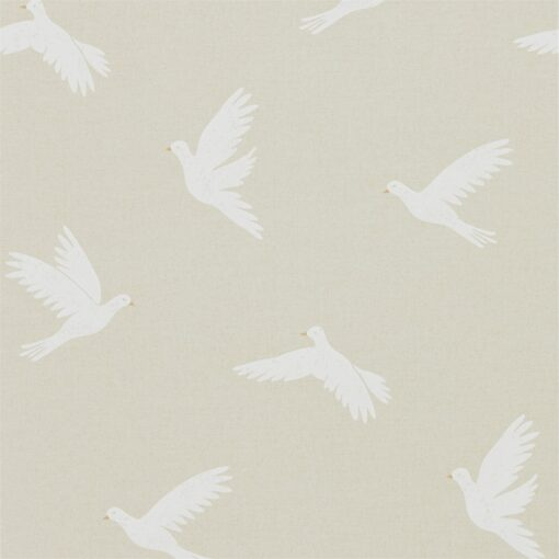 Paper Doves Wallpaper from The Potting Room Collection in Linen