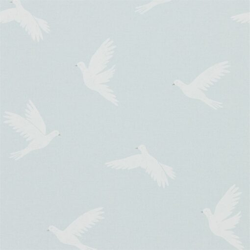 Paper Doves Wallpaper from The Potting Room Collection in Mineral