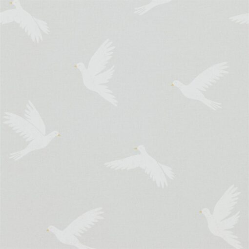 Paper Doves Wallpaper from The Potting Room Collection in Dove