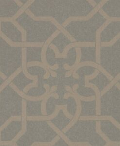 Mawton Wallpaper from the Chiswick Grove Collection by Sanderson in Charcoal and Gilver