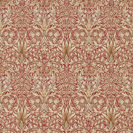 Snakeshead wallpaper from the Archives IV collection by Morris & Co. in Madder & Gold