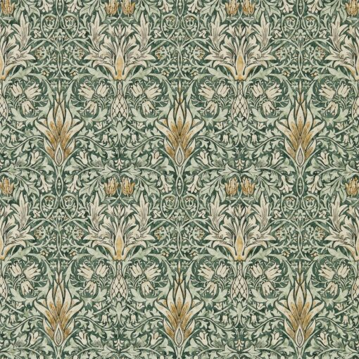 Snakeshead wallpaper from the Archives IV collection by Morris & Co. in Forest & Thyme
