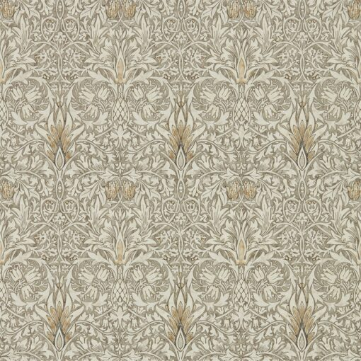 Snakeshead wallpaper from the Archives IV collection by Morris & Co. in Stone & Cream
