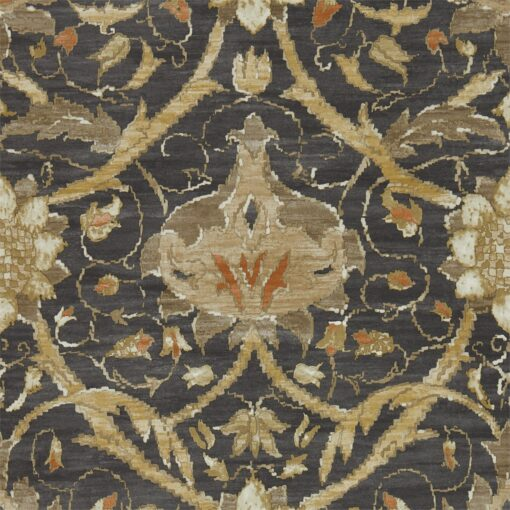 Montreal Wallpaper from the Archive IV collection by Morris & Co in Charcoal & Bronze