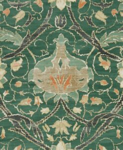 Montreal Wallpaper from the Archive IV collection by Morris & Co in Forest & Teal