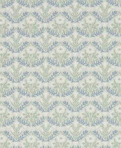 Morris Bellflowers Wallpaper from the Archives IV collection by Morris & Co. in Grey & Fennel