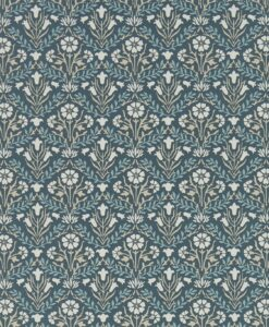 Morris Bellflowers Wallpaper from the Archives IV collection by Morris & Co. in Indigo & linen