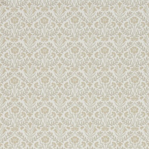 Morris Bellflowers Wallpaper from the Archives IV collection by Morris & Co. in Linen & Cream
