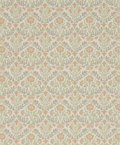 Morris Bellflowers Wallpaper from the Archives IV collection by Morris & Co. in Saffron & Olive