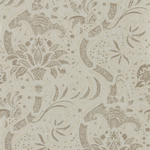 Indian (Beaded) Wallpaper from the Archives IV Collection by Morris & Co. in Stone & Linen
