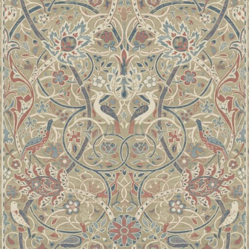 Bullerswood Wallpaper from the Archives IV Collection by Morris & Co in Spice & Manilla