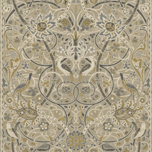 Bullerswood Wallpaper from the Archives IV Collection by Morris & Co in Stone & Mustard