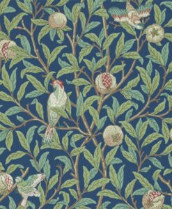 Bird & Pomegranate wallpaper from The Craftsman Wallpapers by Morris & Co. in Blue & Sage