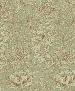 Chrysanthemum Toile in Eggshell and Gold