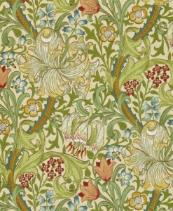 Golden Lily Wallpaper from The Craftsman Wallpapers by Morris & Co. in Pale Biscuit